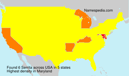 Surname Serrita in USA