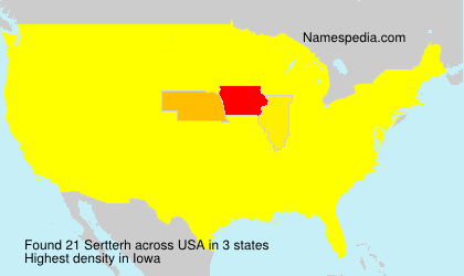 Surname Sertterh in USA