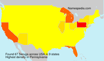 Surname Seruga in USA