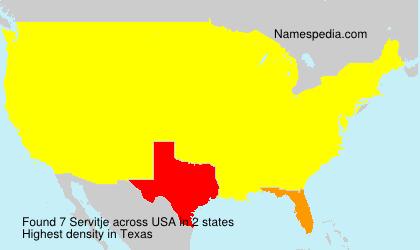 Surname Servitje in USA