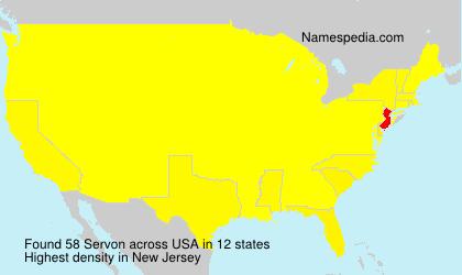 Surname Servon in USA