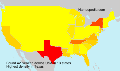 Surname Serwan in USA