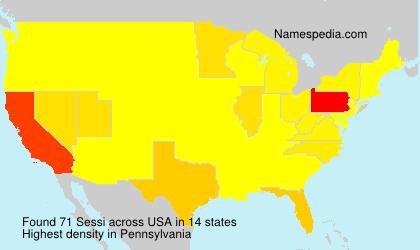 Familiennamen Sessi - USA