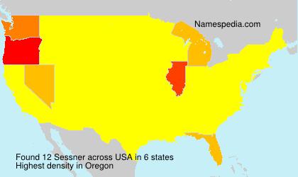 Familiennamen Sessner - USA