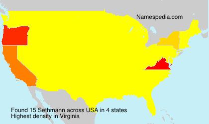 Surname Sethmann in USA