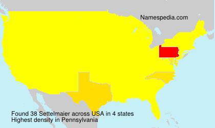 Familiennamen Settelmaier - USA