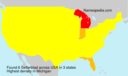 Surname Setterblad in USA