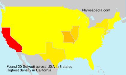 Familiennamen Setyadi - USA