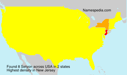 Surname Setyon in USA