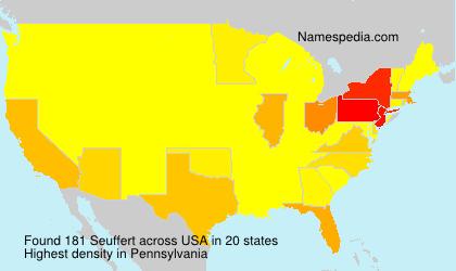 Familiennamen Seuffert - USA