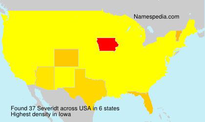 Surname Severidt in USA