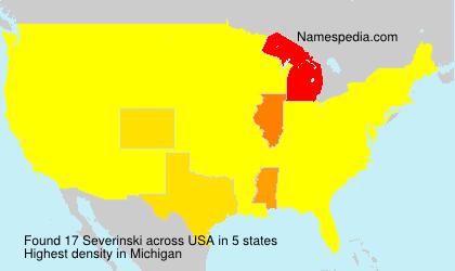 Surname Severinski in USA