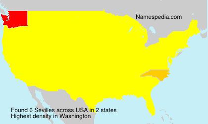 Surname Sevilles in USA