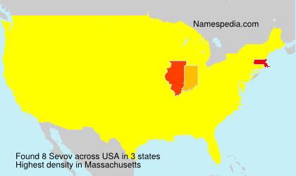 Familiennamen Sevov - USA