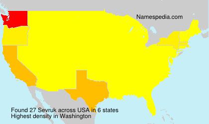 Familiennamen Sevruk - USA