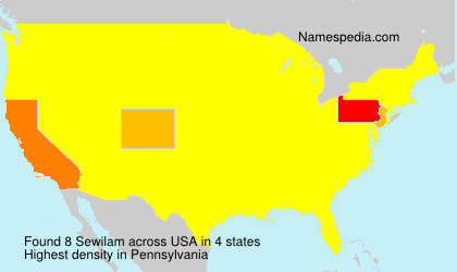 Surname Sewilam in USA