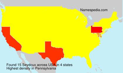 Familiennamen Seydoux - USA