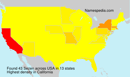 Surname Sezen in USA