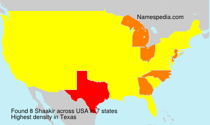 Surname Shaakir in USA