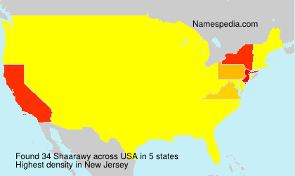 Surname Shaarawy in USA