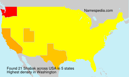 Surname Shabak in USA