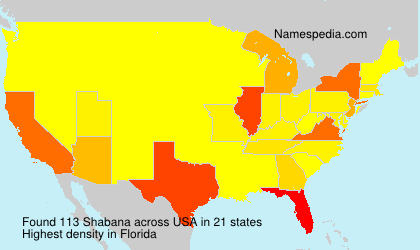 Surname Shabana in USA