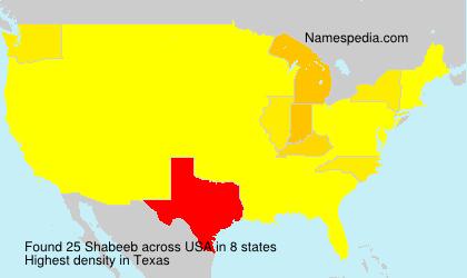 Surname Shabeeb in USA