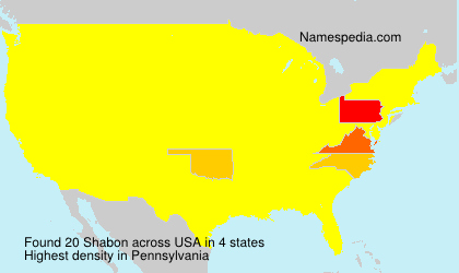Surname Shabon in USA