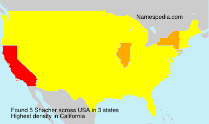 Surname Shacher in USA