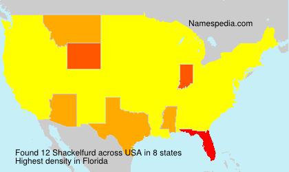 Surname Shackelfurd in USA