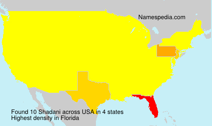 Surname Shadani in USA