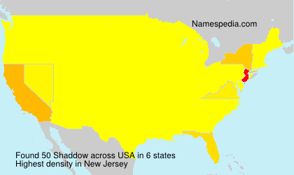 Surname Shaddow in USA