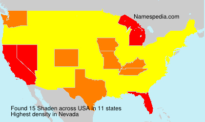 Surname Shaden in USA