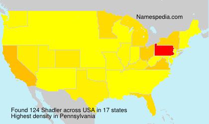 Surname Shadler in USA