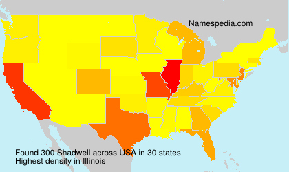 Surname Shadwell in USA