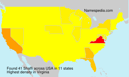 Surname Shaffi in USA