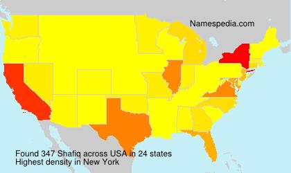 Familiennamen Shafiq - USA