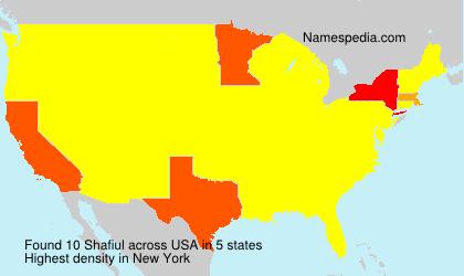 Familiennamen Shafiul - USA
