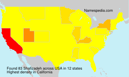 Surname Shafizadeh in USA