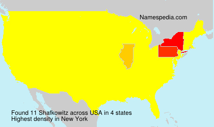 Surname Shafkowitz in USA