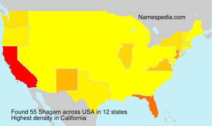 Familiennamen Shagam - USA
