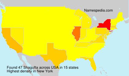 Familiennamen Shagufta - USA