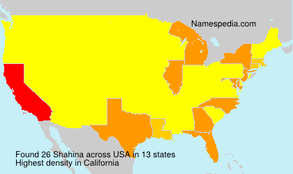 Surname Shahina in USA