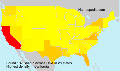 Surname Shahla in USA