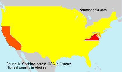 Surname Shahlavi in USA