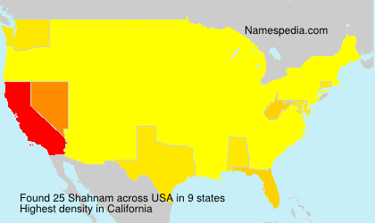 Surname Shahnam in USA