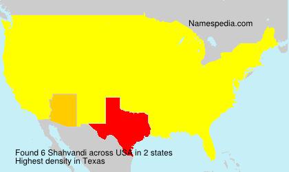 Surname Shahvandi in USA