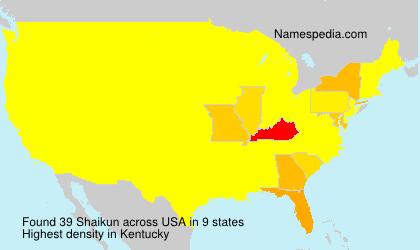 Surname Shaikun in USA