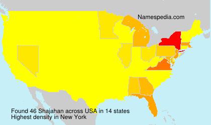 Surname Shajahan in USA