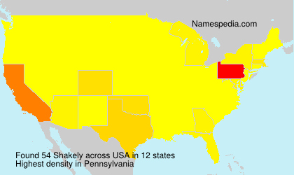 Surname Shakely in USA